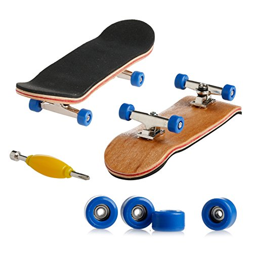 dairyshop Professionelle Mini Griffbretter/Finger Skateboard Ahornholz Kids gift-1Pack dunkelblau