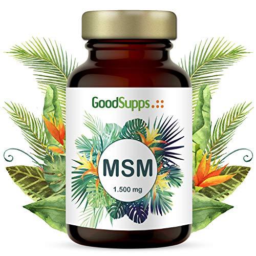 MSM Kapseln mit 1.500 mg | 365 hochdosierte Kapseln | Zum Einführungspreis | 99,9% reines MSM | Vorrat für 6 Monate | Vegan & ohne unerwünschte Zusätze | Hergestellt in Deutschland | GoodSupps