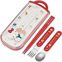 Juego de tenedor cuchara palillos chinos Trio de patinador Sanrio Hello Kitty tcs1am de Japón
