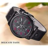 Curren for Men - Analog Leather Watch - 8192