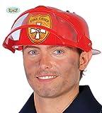 Guirca Roter Feuerwehrhelm Helm Brandmeister Karneval Fasching Feuerwehr Fire Chief Rot