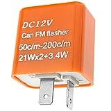 Relais de clignotant à 2 broches Répétiteur Relais Clignotant LED Flasheur 12V Indicateur réglable en vitesse