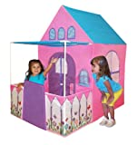 Playhouse Victorian Princess Castle Play tent with fenced patio by Kids Adventure