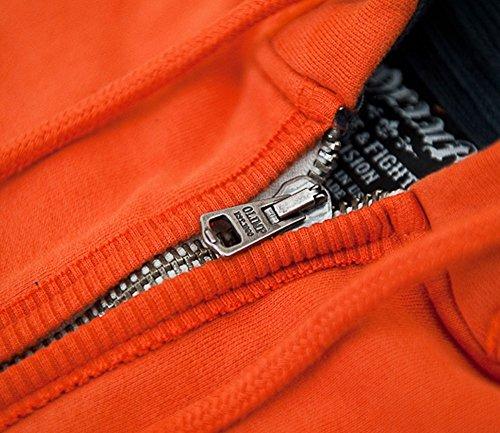 OLIMP LIVE & FIGHT Uomo Felpa con cappuccio - CHOPPER Arancione