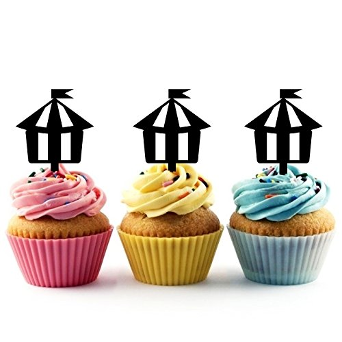 Innovedesire Circus Tent Kuchenaufsätze Hochzeit Geburtsta Acryl Dekor Cupcake Kuchen Topper Stand für Kuchen Party Dekoration 10 Stück