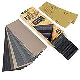 HOLZWURM Premium Schleifpapier Set, 45 Bögen, grob - fein [ P 80 - P 3000 ] Nass & Trocken für Holz, Metall, Lack uvm.