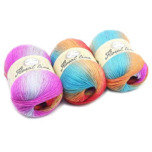 � 100 g Häkelgarn in verschiedenen Farben – Häkelwolle, perfekt für jedes Häkeln, Stricken, Mini-Projekt, Decken, Puppen, Matten, Schal und mehr, 17, 100.0g/Skein ()