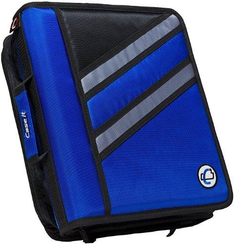 case-it z-binder Two in One, D-Ring Zipper Binder Einzelbett blau (Blau D Ring Binder)