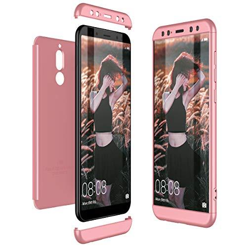 CE-Link Huawei Mate 10 Lite Hülle Hardcase 3 in 1 Handyhülle 360 Grad Hard Hartschale Grad Full Body Case Cover Schutzhülle Bumper - Rose Gold