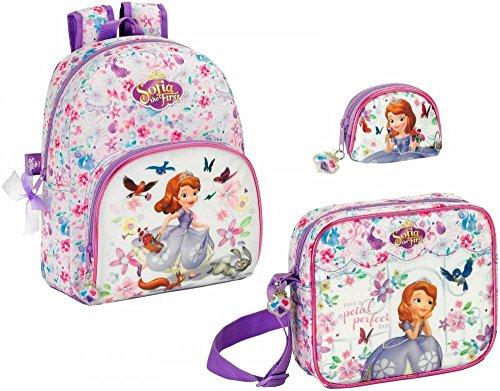 Sofia die Erste Rucksack, Schultertasche und Geldbeutel Disney (Die Sofia Geldbörse Erste)