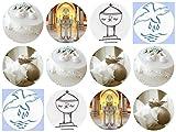 12 Stück Muffinaufleger Muffinfoto Aufleger Foto Bild Geburt/Taufe rund ca. 6 cm (22) *NEU*OVP*