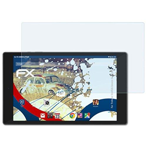 atFolix Schutzfolie kompatibel mit Trekstor SurfTab Breeze 9.6 Quad Panzerfolie, ultraklare & stoßdämpfende FX Folie (2X)