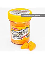 Berkley Powerbait aroma Natural con purpurina troutbait, Bloodworm Fl Orange