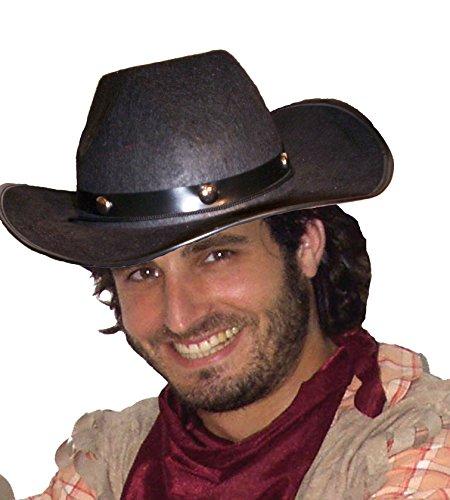 Kostüm Texaner - EL CARNAVAL Hut Texaner Schwarz Erwachsene