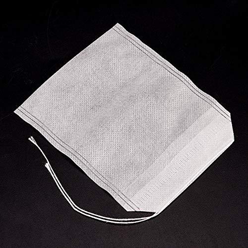 100 Stück/Pack von Küchenutensilien leere Duftbeutel Papier Teefilter Teefilter Teebeutel leer Papier Tee Filter Beutel Einweg-Infusionsgürtel Kordelzug 5x7 cm - Papier-tee-filter