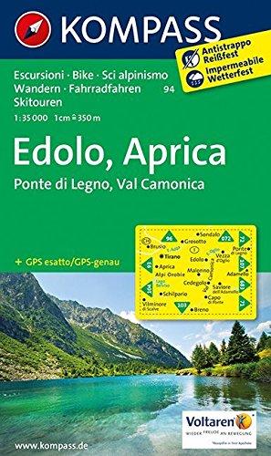 Carta escursionistica n. 94. Edolo, Aprica 1:35000