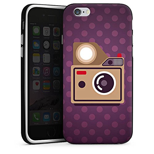 Apple iPhone X Silikon Hülle Case Schutzhülle Foto Kamera Fotografie Silikon Case schwarz / weiß