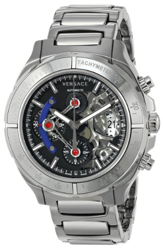 Versace DV One Skeleton Chrono Homme 43mm Saphire Automatique Montre VK8010013