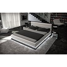 Sofa Dreams CAMAS DE AGUA 180 x 200 cm LUZ DE LA LUNA BLANCO CON ILUMINACIÓN