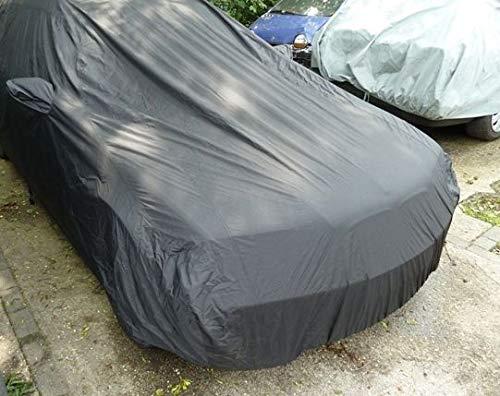AMS Vollgarage Anti-Frost mit Spiegeltaschen für BMW 3er E46 Compact, schützende Autoabdeckung mit Perfekter Passform, hochwertige Abdeckplane als praktische Auto-Vollgarage