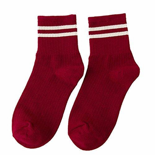 TianWlio Beiläufige Gestreifte Socken Der Art und Weise Frauen Entwerfen Mehrfarbigen Warmen Winter