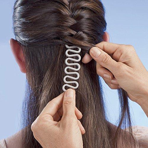 ANKKO Stilvoll französischer Haar Hundertfüßer Umflechtung Braider Lockenwickler magischen Haare Twist Styling Werkzeugmacher (Weiß)