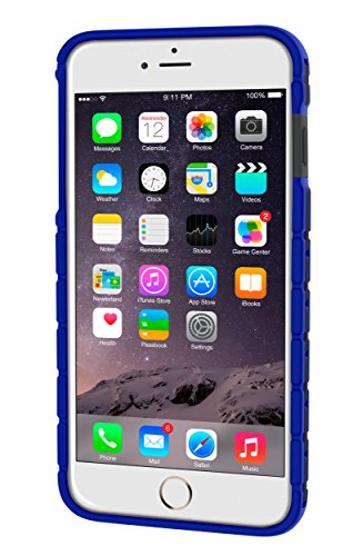 iPhone 6s Plus Case, roocase iPhone 6 Plus Slim Fit Bumper (Open Back Design) with Corner Edge Protection [Chain Bumper] Case Cover for Apple iPhone 6 Plus / 6s Plus (2015), Dark Blue Chain (Dark Blue)