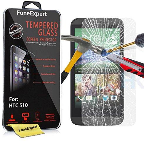 510 Htc Protector Screen (HTC Desire 510 Schutzfolie, FoneExpert Gehärtetem Glas Schutzfolie Displayschutzfolie Displayschutz Tempered Glass Screen Protector für HTC Desire 510)