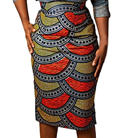 Jupe Package Hanche, Tonwalk Femme Impression Jupe Moulante Taille Haute (S, Multicolore)