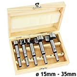 SPARES2GO, set di 5 punte Forstner per la lavorazione del legno da 15a35mm