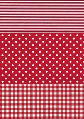 Décopatch-Papier Dotty-Rot, 3 Bögen, ca. 30 x 39 cm, 20 g/qm