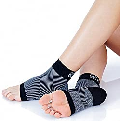 Plantar Fasciitis Compression Foot Sleeve Socks By Deneve - Orthopedic Achilles Tendon Therapy Wrap for Ankle Arch Heel and Foot Pain Relief - Support Brace - Orthotic Pain Relief Insoles Shoe (M)