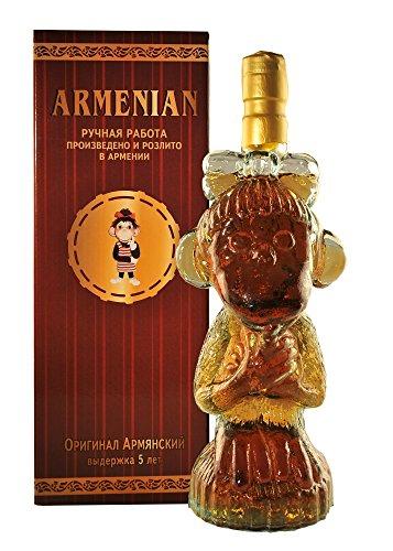 armenischer Weinbrand Affe, 40% Alk., 5 Jahre gereift, 0,5L