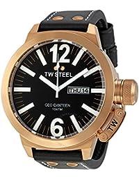 TW Steel CE1022 CEO Canteen - Reloj unisex de cuarzo, correa de piel color negro