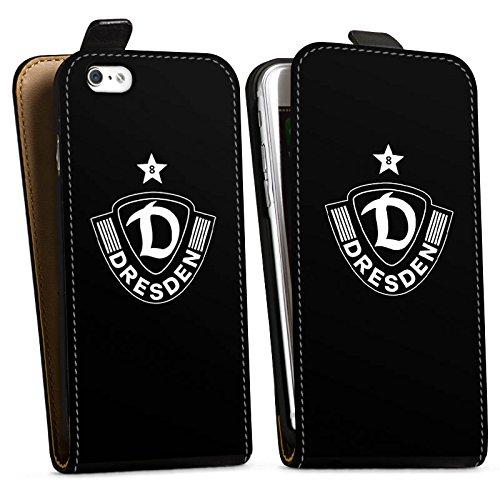 Apple iPhone SE Silikon Hülle Case Schutzhülle Dynamo Dresden Fußball Bundesliga Downflip Tasche schwarz