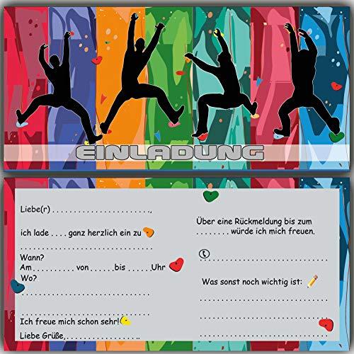 Einladungskarten zum Geburtstag Kindergeburtstag Klettern bouldern Einladung Klettergeburtstag Kletterhalle Jungs Mädchen Kinder Boulder Geburtstagseinladung