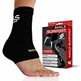 #1 Best Plantar Fasciitis Foot Sleeve & Compression Support for Men & Women - Accelerated Recovery, Reduced Muscle Fatigue - Breathable & Comfortable + Bonus Ankle Brace! (One Size) (1-pack)