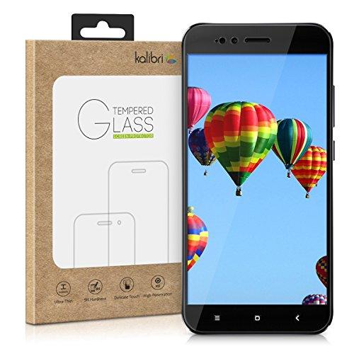 kalibri-Echtglas-Displayschutz-fr-Xiaomi-Mi-5X-Mi-A1-3D-Schutzglas-Full-Cover-Screen-Protector-mit-Rahmen-Glas-Folie-auch-fr-gewlbtes-Display-in-Schwarz