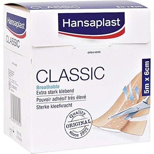 Hansaplast Pflaster, klassisch, Standardgröße, 5m x 6cm