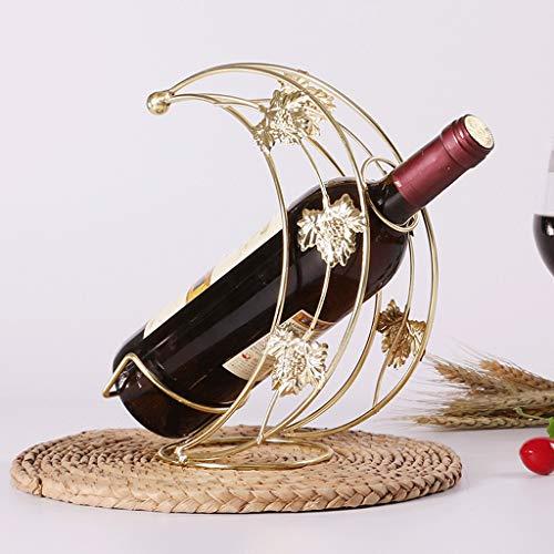 GXYGWJ Weinregal, dekorative Dekoration für Weinflaschen, Schmiedeeisen, Weinregal, Weinregal,...