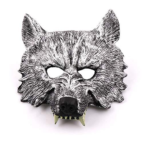 P-WH Lustige Gummi Tier Voller Kopf Kostüm Kopf Maske Halloween Neuheit Deluxe Kostüm Party Cosplay (Color : Silver) (Silver Ghost Kostüm)
