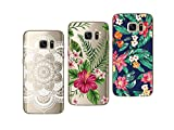 Novago - Cover Morbida e Resistente per Samsung Galaxy S7, Confezione da 3 Pezzi, con Stampa di qualità