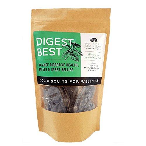CC Bear Ltd - Galletas de Perro Para la Salud Digestiva - Menta Orgánica, Jengibre Biológico, Carbón Activado y Aceite de Coco Biológico - Equilibrio Salud Digestiva, Boca Buena Olor y Estómagos Enfermos