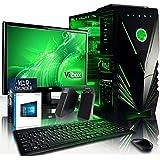 Vibox VBX-PC-8355 Pulsar Paket 32 54,6 cm (21,5 Zoll) Gaming Desktop-PC (AMD Phenom Quad Core FX-8350, 16GB RAM, 1TB HDD, NVIDIA Geforce GTX 950, Win 10 Home) grün