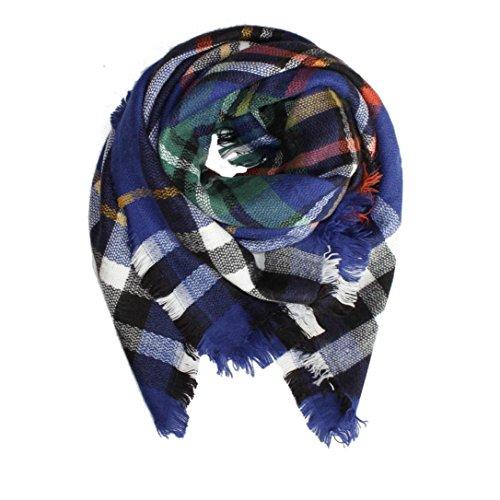 OverDose Kinder Schal, Unisex Kinder Kariert Schal Kinder Jungen Mädchen Herbst Winter Warme Schals Kragen Warm Tücher Schlauchschal