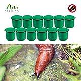Gardigo Schnecken-Falle 12er Set | Bio Schneckenschutz für den Garten | Umweltfreundliche Schneckenbekämpfung | Deutscher Hersteller