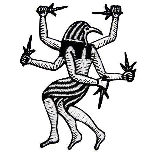 tickt, Design: Horus, Ägyptischer Gott der Könige und des Himmels, zum Aufbügeln oder Aufnähen ()