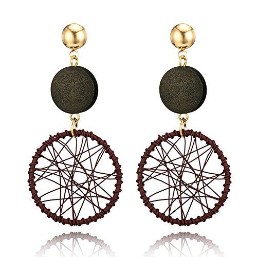 Hearsbeauty Creativi orecchini pendenti a forma di ruota con ferris, gioielli regalo per donne e Lega, colore: Coffee, cod. 58R3V351TNJ8UL8U