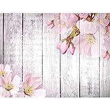 Papel Pintado Fotográfico Flores Sakura 352 x 250 cm Tipo Fleece no-trenzado Salón Dormitorio Despacho Pasillo Decoración murales decoración de paredes moderna - 100% FABRICADO EN ALEMANIA - 9118011a