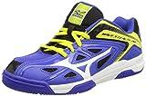 Mizuno Jr Wave Stealth 3, Jungen Handballschuhe, Blau (blue/white/bolt), 37 EU (4.5 Kinder UK)